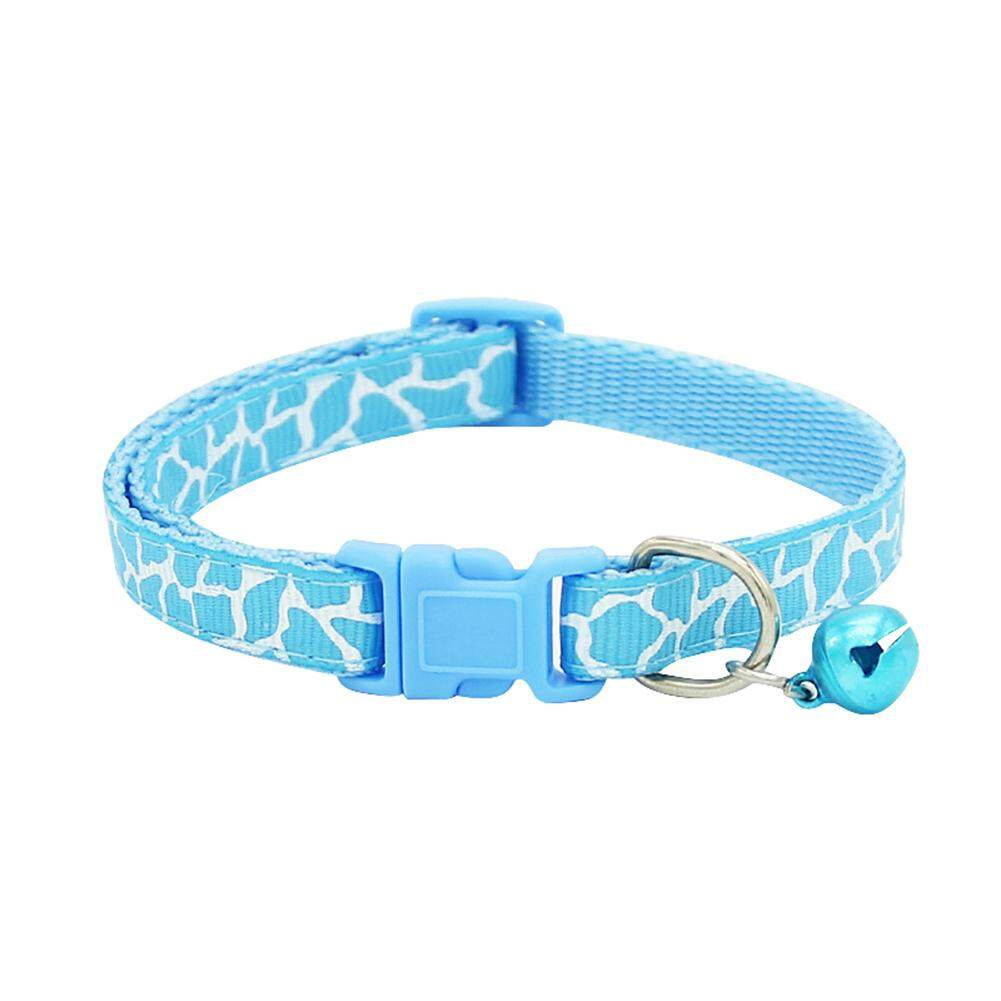 Cat Puppy Kitten Neck Chain Pet Collar Dog Strap Buckle Nylon Fabric - intl