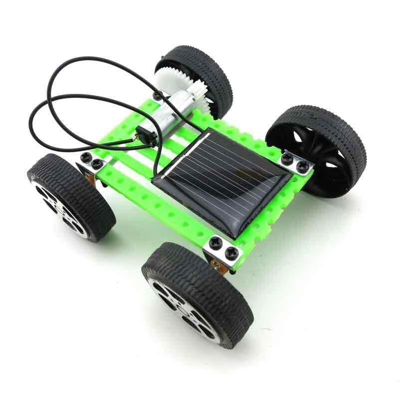 Hình ảnh Giáo dục Xếp Hình Tiện Ích Mini Năng Lượng Mặt Trời Đồ Chơi NHÍP Ô Tô Trẻ Em Sở Thích Robot 1 cái-quốc tế