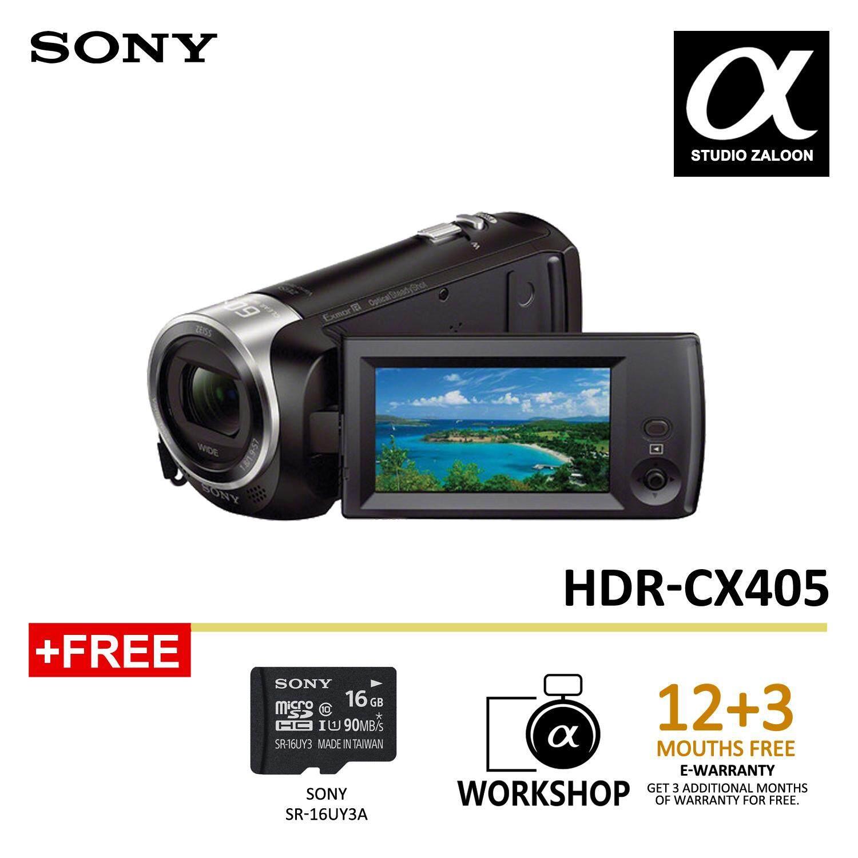 Sony HDR-CX405 HD Handycam (Black) (Sony Malaysia Warranty)