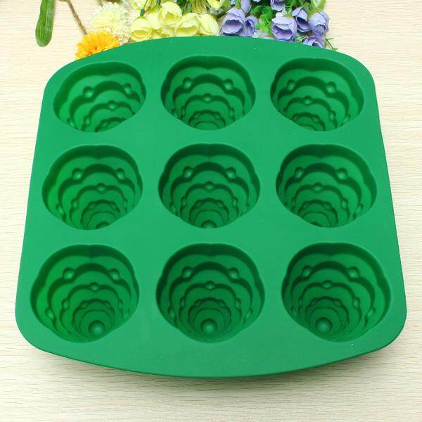 3D Christmas Tree Cake Mould Silicone Cookie Chocolate Baking Mold - intl