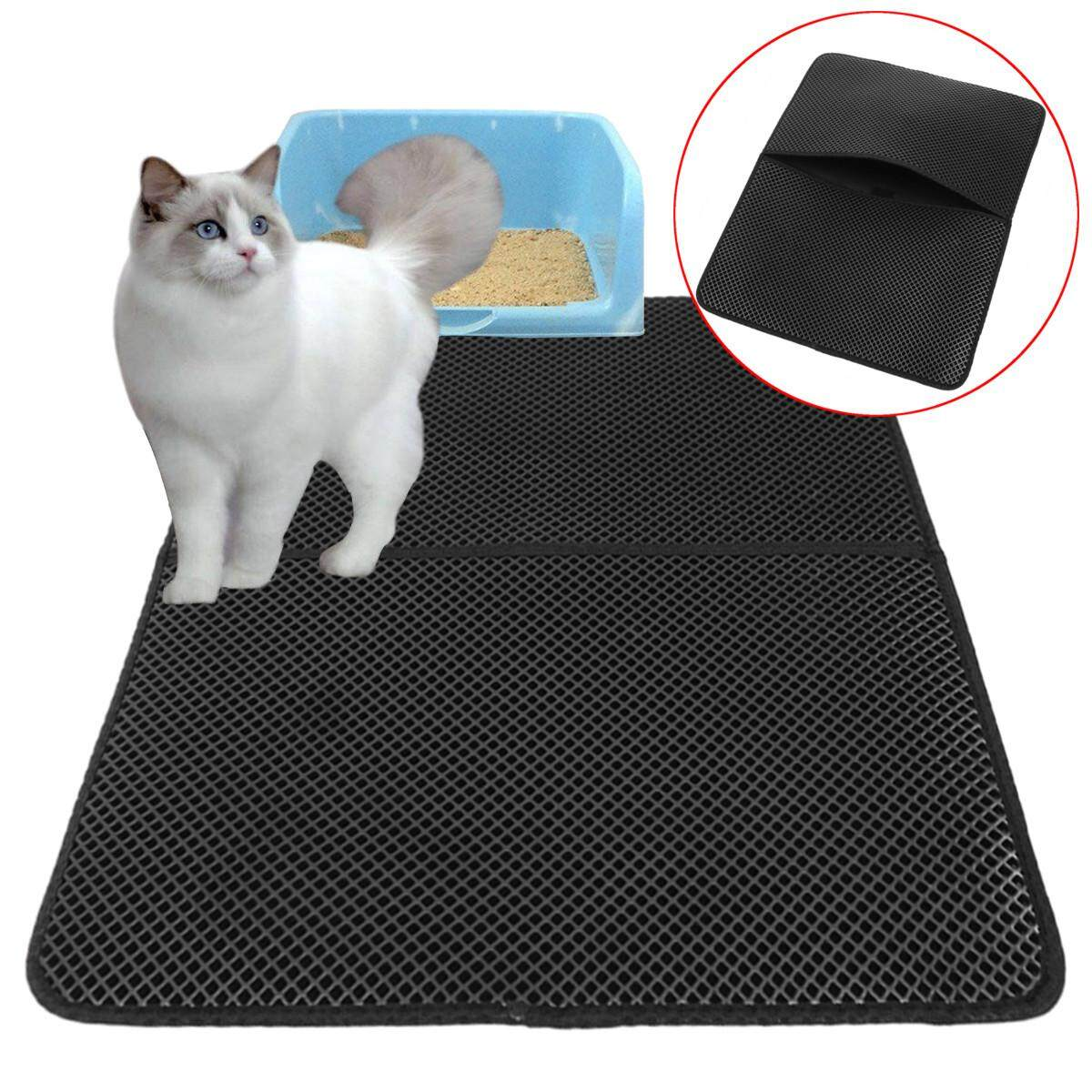 Buy Cat Litter Mat Trapper Catcher Double Layer Honeycomb Scatter Control Mats O5M2 Intl Online Singapore