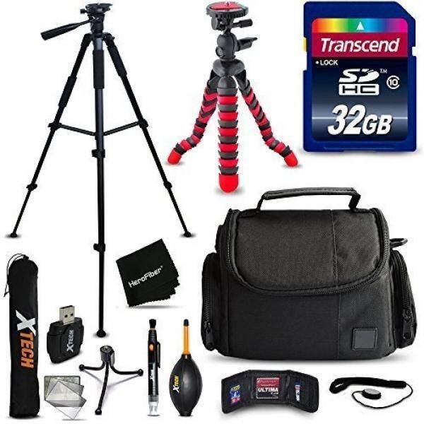 Almm 32 GB Aksesori Perlengkapan untuk Nikon Coolpix B700, B500, A900, L840 L830, L820, l620, L610, P900, P610, P600, Perlengkapan Meliputi: 32 GB Ingatan Kartu + Kasus Empuk + 60 Inch Tripod + 12 Fleksibel Tripod + Lebih-Internasional