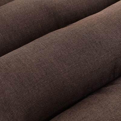 Adjustable Lazy Sofa Folding Floor Chair with Feet Cushion (COFFEE)
