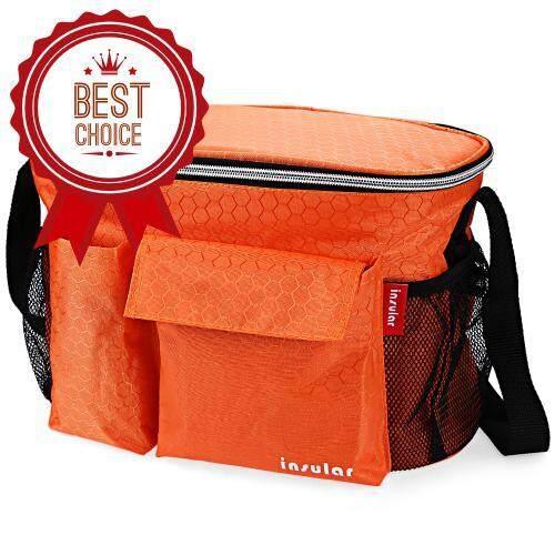 SOLID COLOR HEAT PRESERVATION WATERPROOF BABIES DIAPER BAG FOR STROLLER (ORANGE)