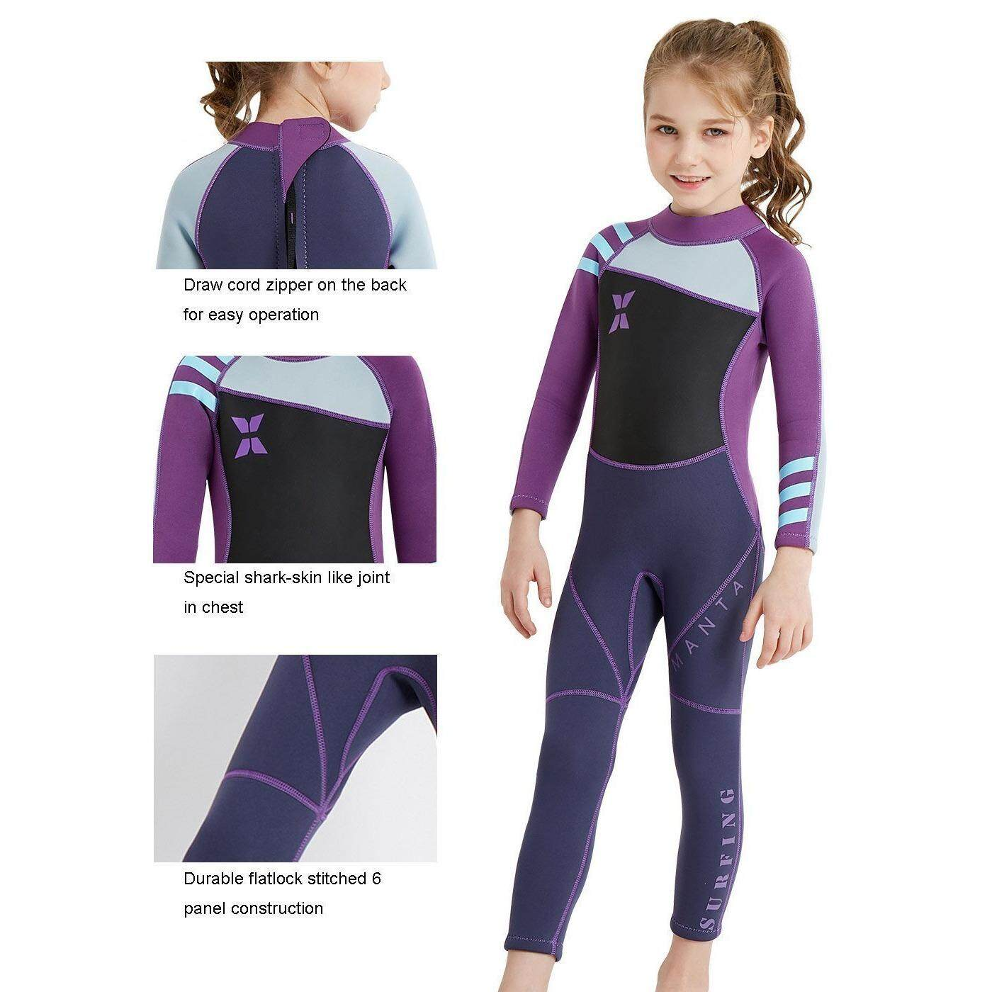 Kids 25mm Neoprene Wetsuit Upf 50 Quick Dry Swimming Costume