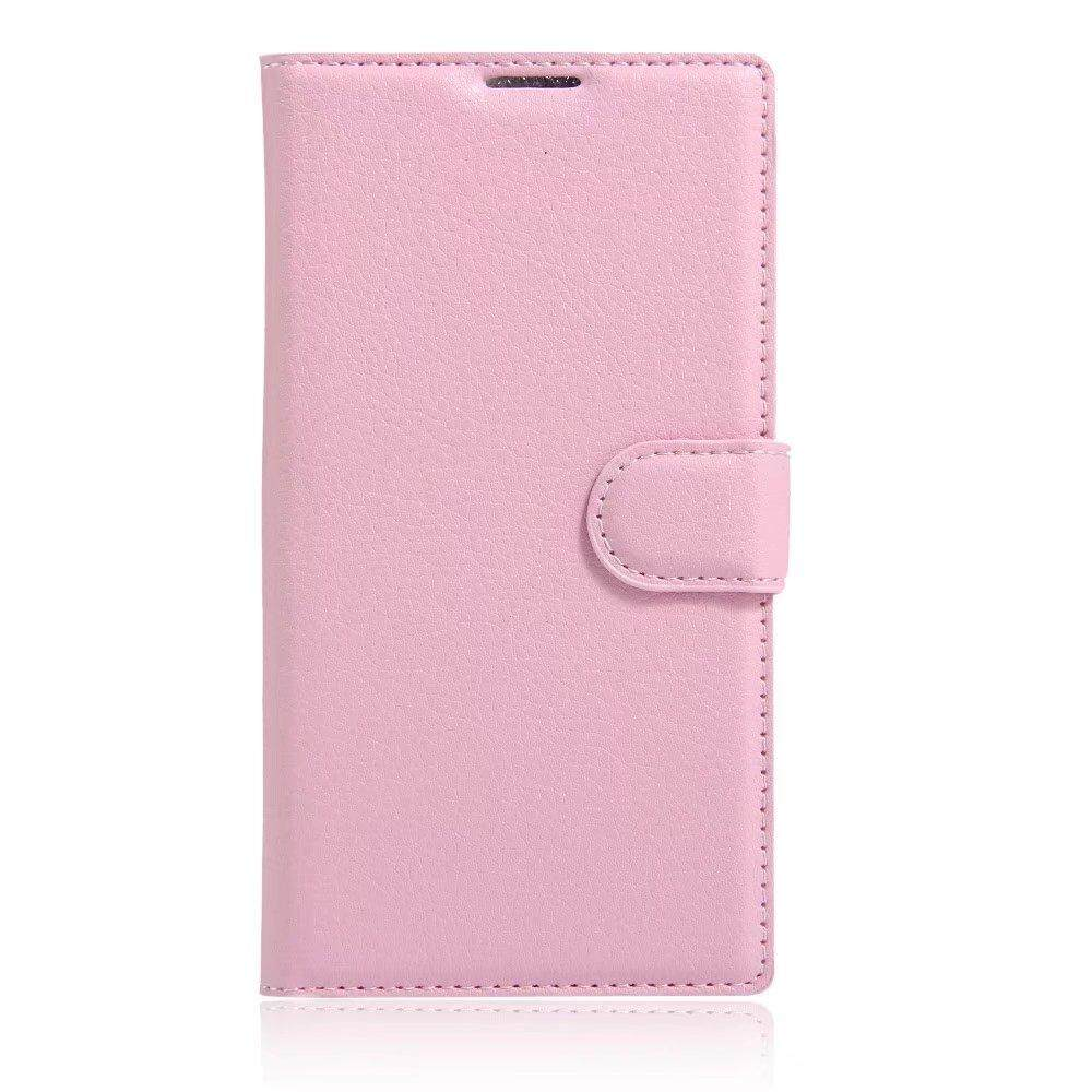 Leather Flip Cover Wallet Card Holder Case For Alcatel Flash 2 / OT7049D - intl
