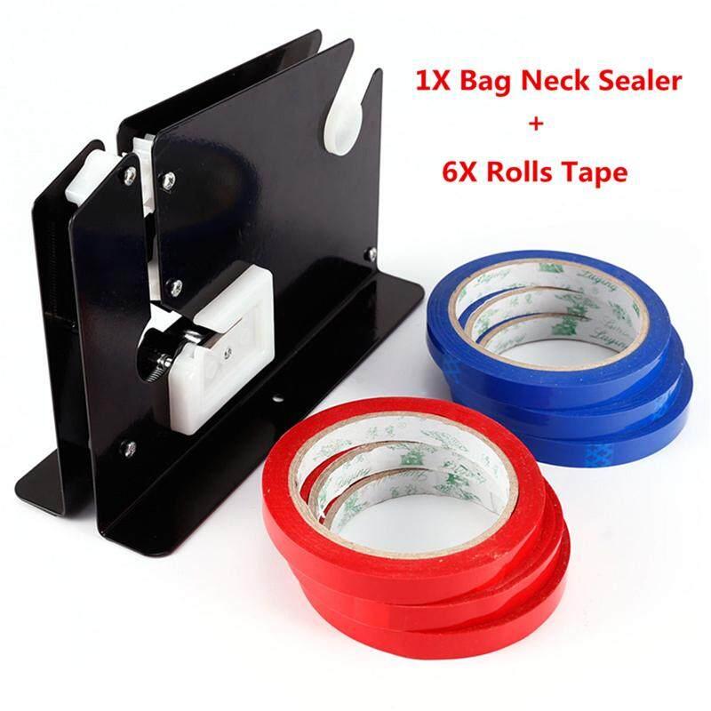 Sealer Tas Leher untuk Buah, Sayuran & Bread dengan 6 Gulungan Tape-Au Stok