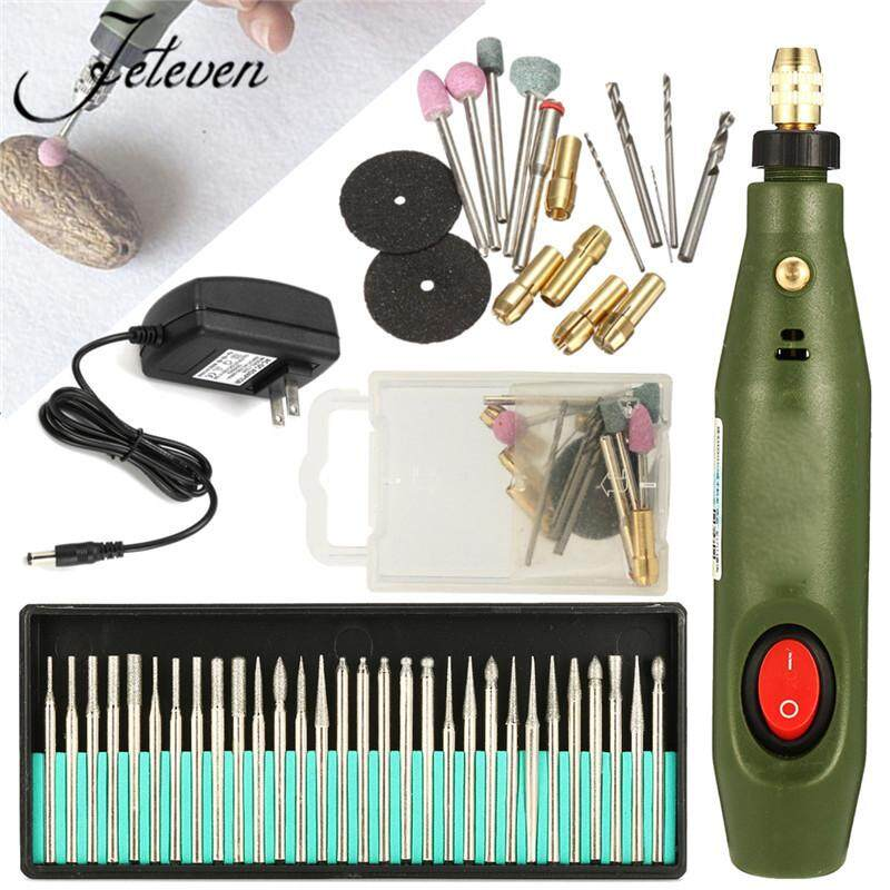 Mini Electric Wood Carving Tools Set Engraving Chisel Pen with 30pcs Drill - intl