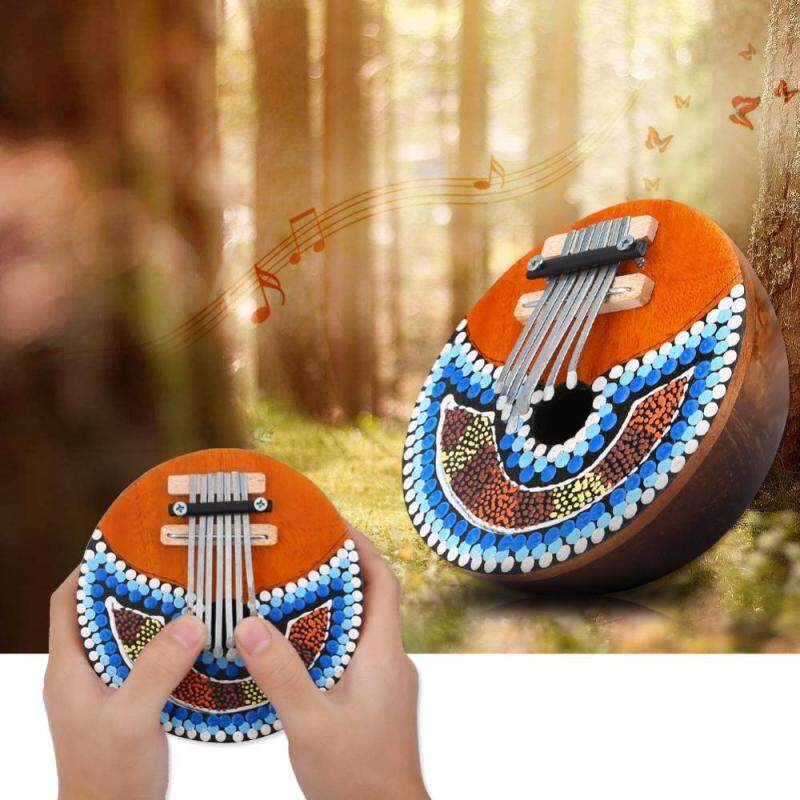 7 Key Tuneable Coconut Shell Mbira Portable Finger Thumb Piano Musical Instrument Malaysia