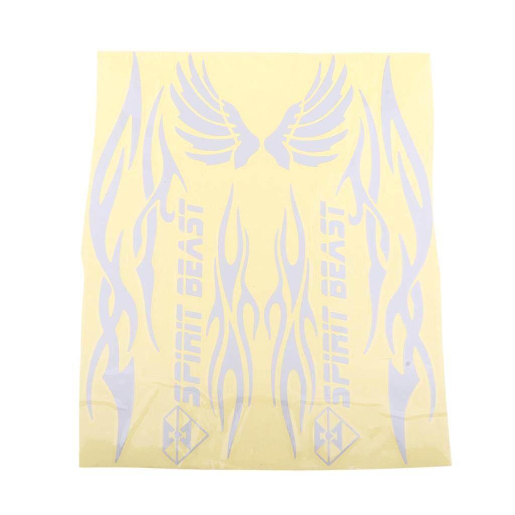 Keajaiban Bersinar Unversal Tahan Air Motor Seluruh Badan Stripe Stiker Decal Perak 1-Intl By Miracle Shining.