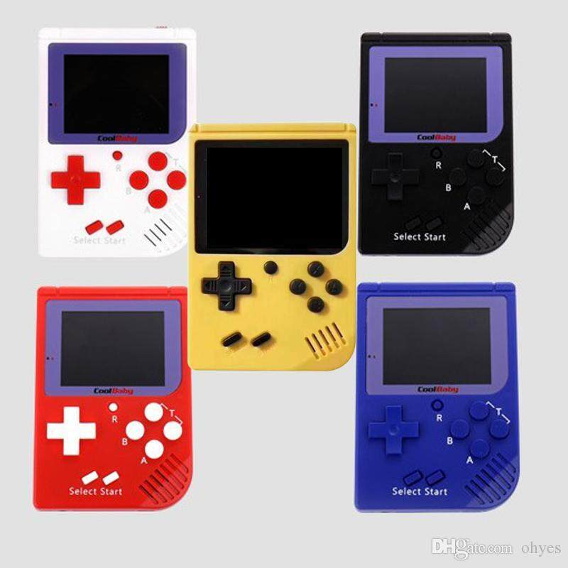 400 GAMES RS6 Mini Retro LCD Handheld Gameboy Console Built-in 400 games