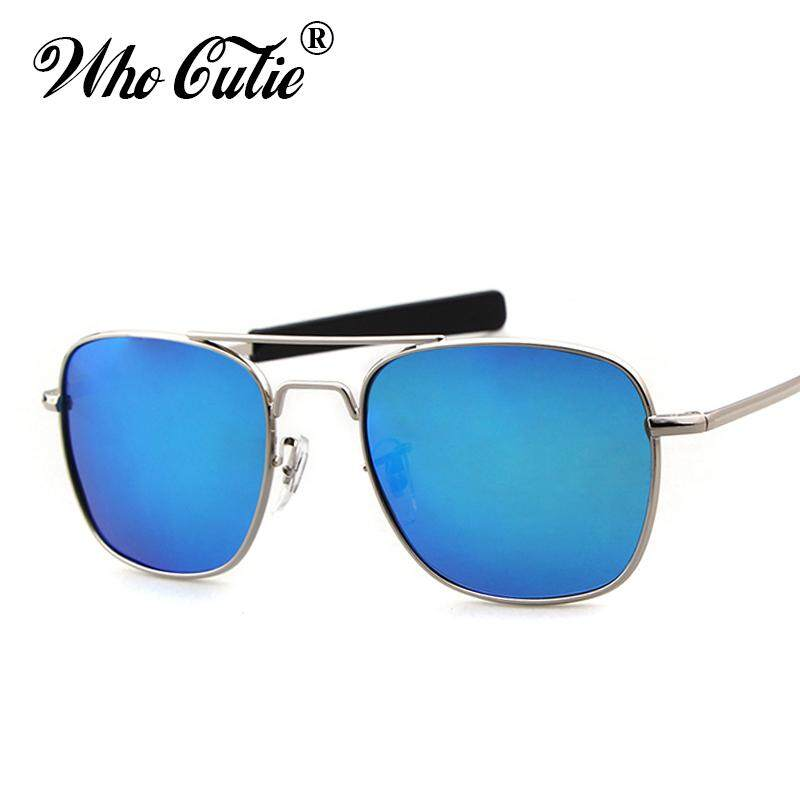 24e465bf9ed WHO CUTIE 2018 Men Polarized AO Sunglasses MILITARY American Optical Lens  James Bond Caravan Sun Glasses