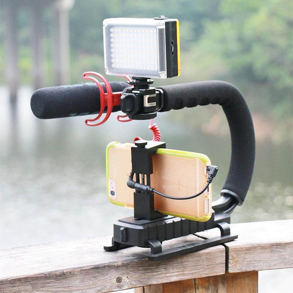 Petir Celephone 2018 Baru Kamera Pemegang Stabilisator Video Portabel Rotasi 360 Derajat C Berbentuk DSLR DV-Intl