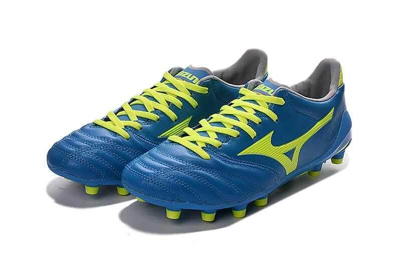 Football Mizuno Morelia Neo KL MD FG Football Shoes Men's Mizuno NEO II FG Soccer Cleats Green/Yellow - intl