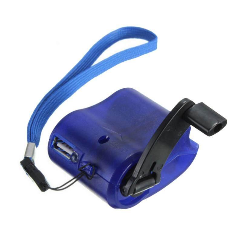 Burstore 5.8*4.6*3 Cm Portabel Emergency Daya USB Tangan Crank SOS Pengisi Daya Telepon Survival Perlengkapan-Internasional