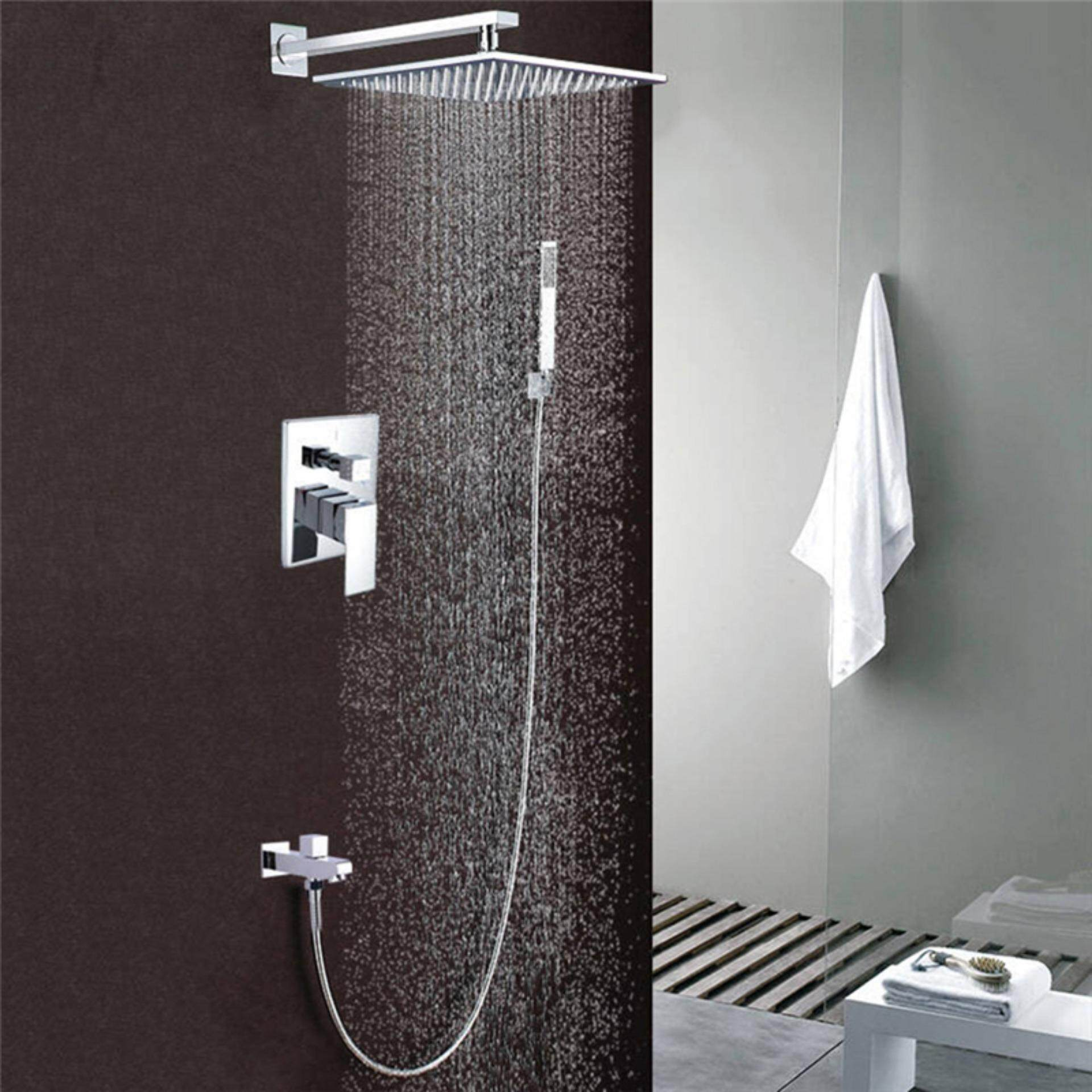 The Best Quality 8 Inch Stainless Steel Bathroom Rain Shower Faucets Head Shower Set Sliver