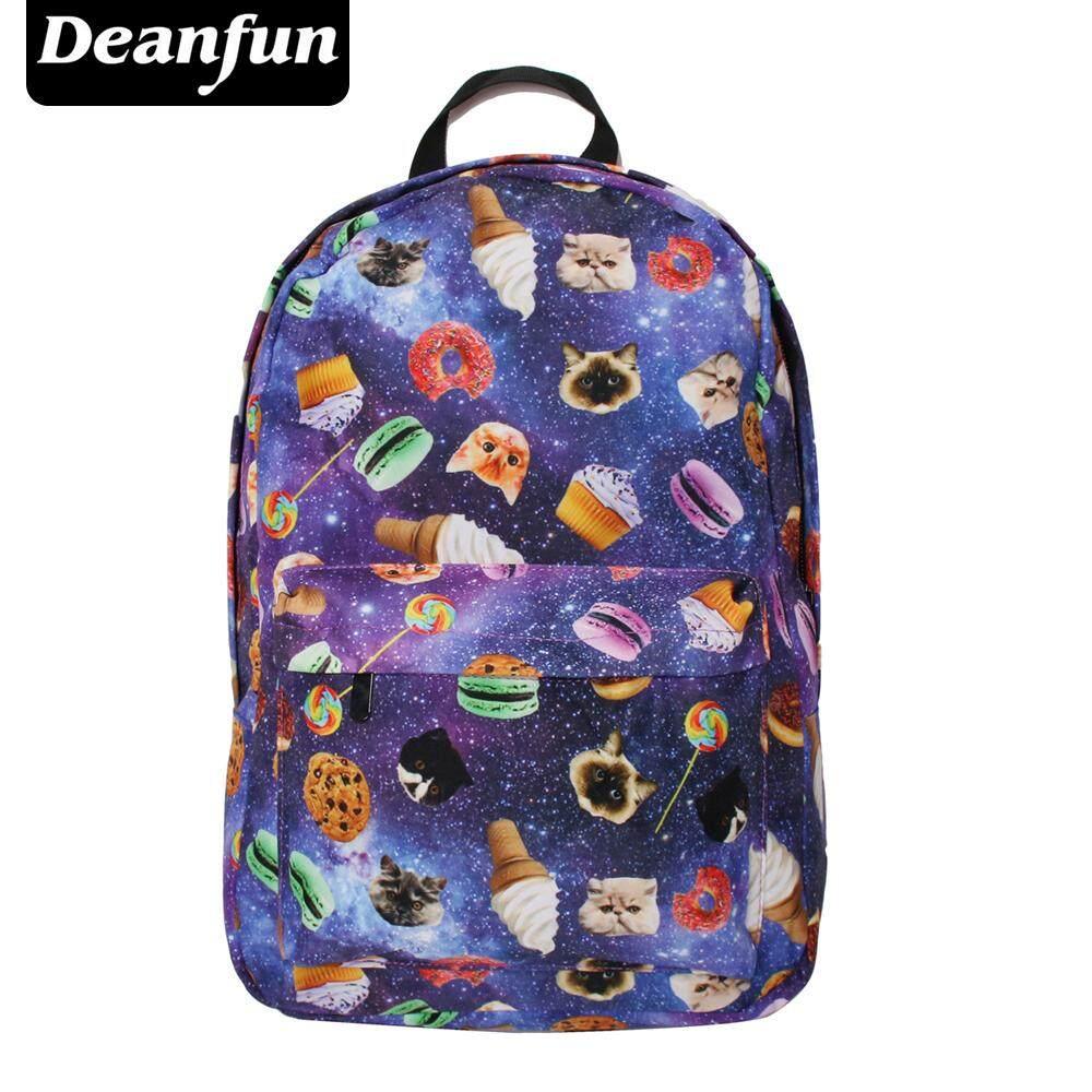 152dfcaa05d2 Deanfu Women Canvas Backpacks Smiley Emoji Face Printing School Bag For  Teenagers Girls Shoulder Bag Mochila