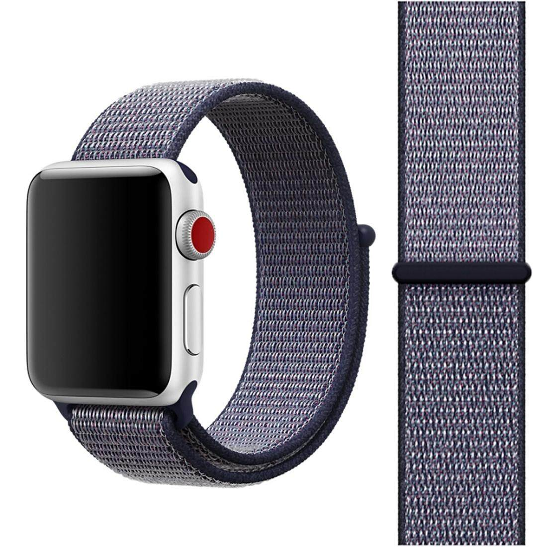 Buy Cheap For Apple Watch Series 3 And 2 And 1 42Mm Simple Fashion Nylon Watch Strap With Magic Stick Navy Blue Intl