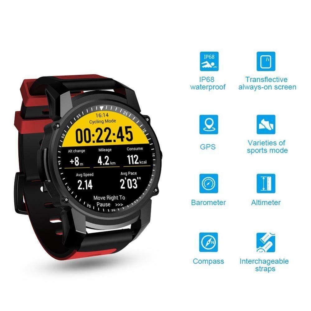 Jual Panas FS08 Pintar Jam Tangan Pria Wanita Gps Pelacak Kebugaran Olahraga Bluetooth Stopwatch Monitor Detak Jantung Arloji Jam-Internasional