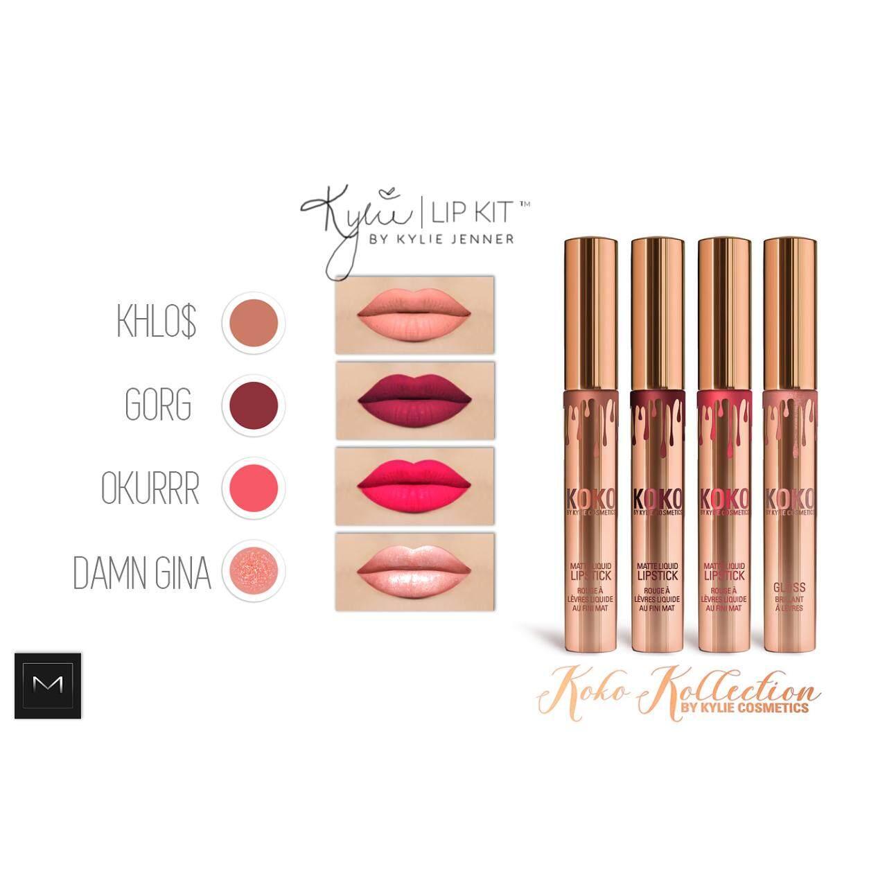 Fitur Mesh Kylie Koko Kollection Lipgloss 4 Pcs Color 1 Pack Pak Set Isi Detail Gambar Matte Lipstick In Terbaru