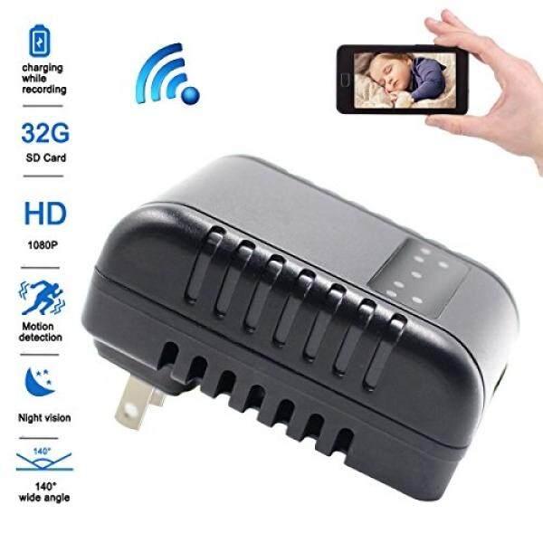 Magho Updated Adaptor USB Wifi Kamera dengan Modus Malam, 1080 P Tersembunyi Charger Dinding Rumah Kamera Keamanan gerakan Terdeteksi Monitor Bayi Hewan Peliharaan dengan Katrij Tinta Hitam Aplikasi Windows