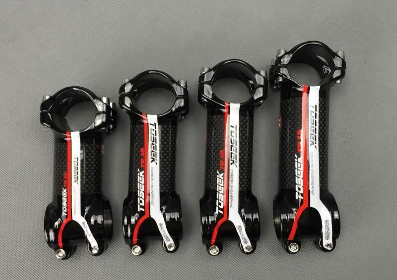 Mua Hàng Mới Về! Đèn pin siêu sáng TOSEEK thương hiệu Hợp Kim & đóng gói carbon xe đạp thân đường/MTB xe đạp 31.8*80/90/ 100/110 mét chỉ 105 gam