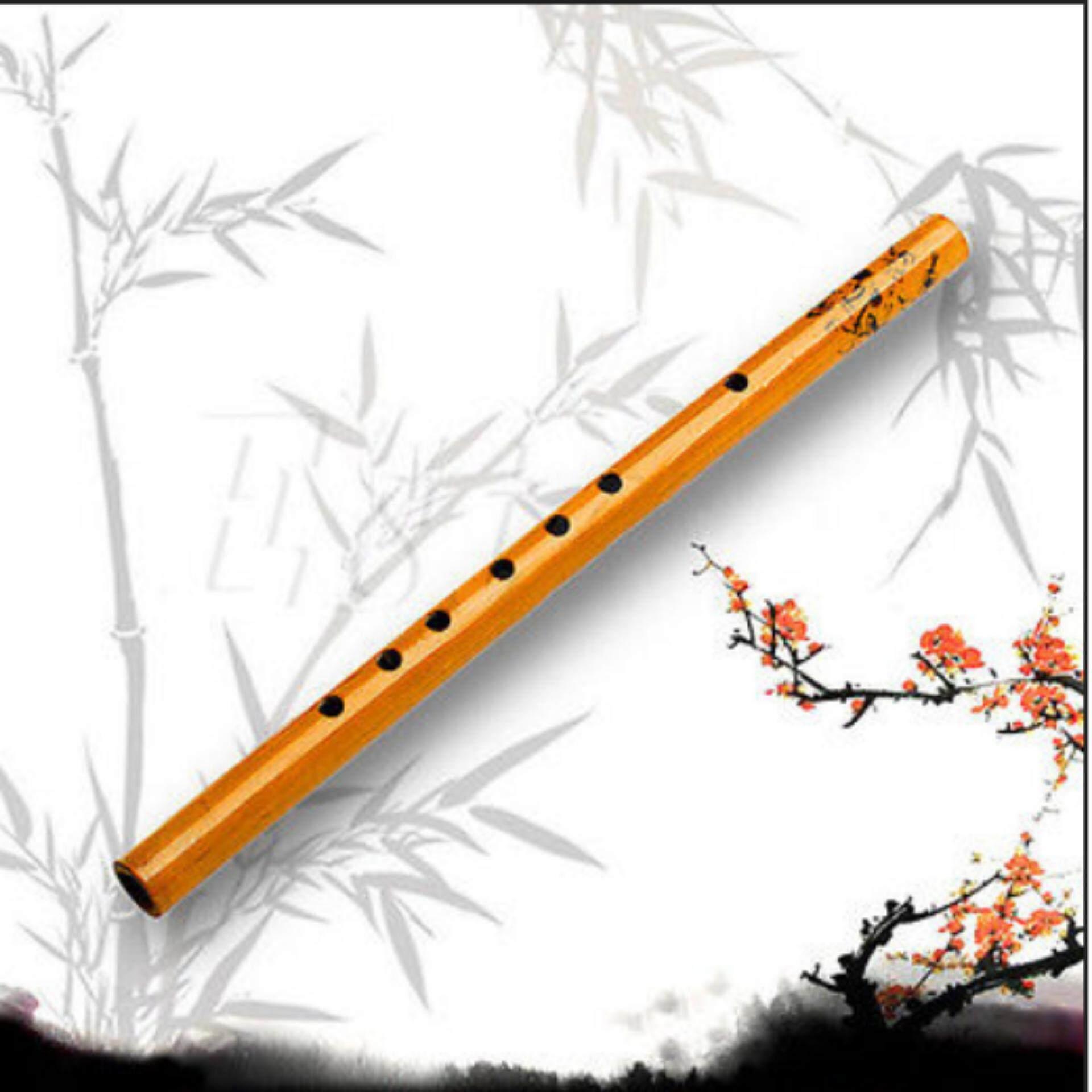 จีนเครื่องดนตรีโบราณยาวขลุ่ยไม้ไผ่ G Key Dizi ทำด้วยมือ - Intl.