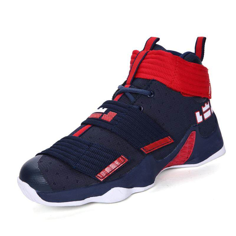 Musim Gugur Baru James Bola Keranjang Sepatu Pria Individualitas Prajurit Soldier Tinggi Terbaik Sepatu Olahraga Sekolah Menengah Menjalankan Sepatu Ukuran 36 -45-Internasional
