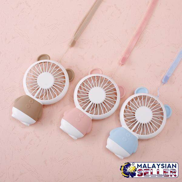 Mini Cooling Fan USB Rechargeable with Bear Design