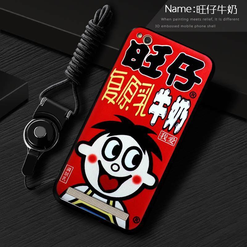 Telepon Case untuk Xiaomi Redmi 5A Lembut Silikon/Tpu Kartun Modis Ponsel Pelindung untuk Xiao Mi Merah Mi 5A selubung Sampul Belakang (1 X Telepon Case + 1 X Gantung Tali) -Internasional