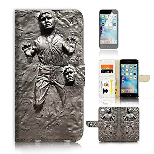 ( For iPhone 8 Plus / iPhone 7 Plus ) Flip Wallet Case Cover & Screen Protector Bundle! A8555 Starwars Han Solo - intl