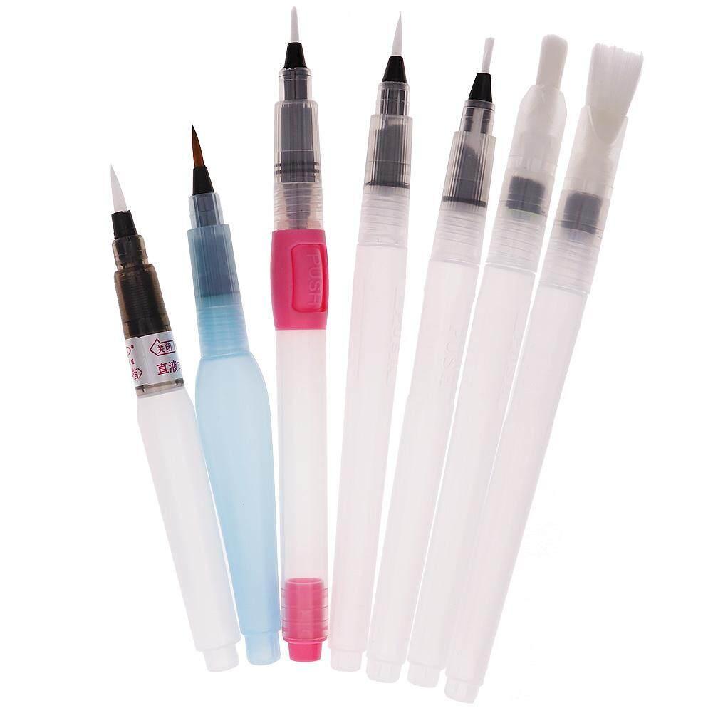 7 ชิ้นเติม Pilot แปรงน้ำหมึกปากกาสำหรับสีน้ำ - นานาชาติ.