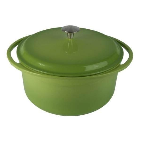 Artland La Maison Melemparkan Iron Sepanjang Casserole Dish, 7.4-Quart, Hijau-Internasional