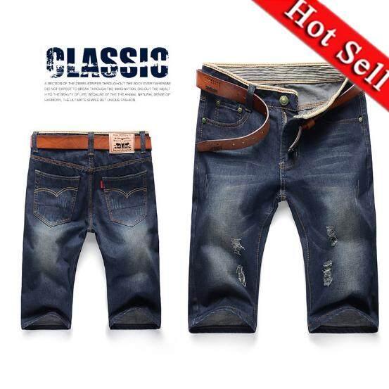 Men 's Five Pants Young Fashion Men' s Pants SELUAR PENDEK DEMIN