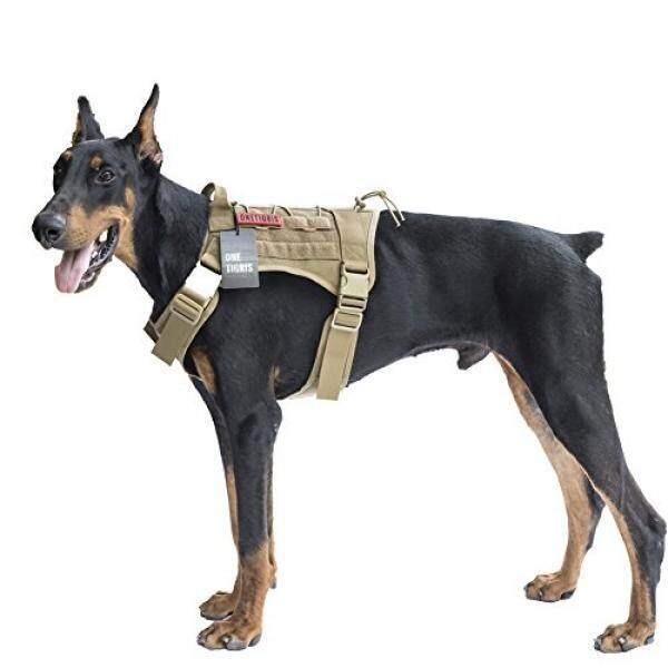 891c1793083 OneTigris Tactical Service Dog Vest – Water-resistant Comfortable Military  Patrol K9 Dog Harness with