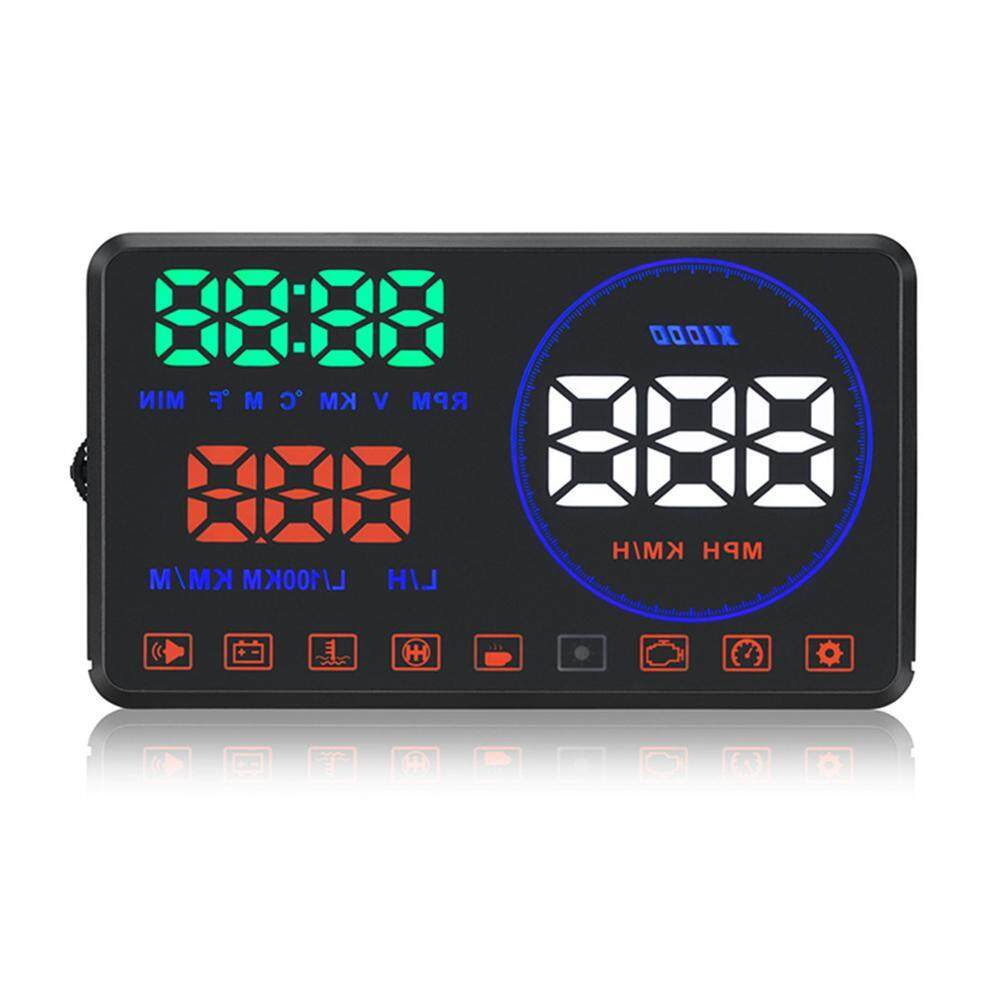 Kobwa M9 5.5 Car Hud Head Up Display With Obd2 Interface Plug Play Km/h Mph Speeding Warning Driving Distance Display With Hd Image Reflection By Kobwa Direct.