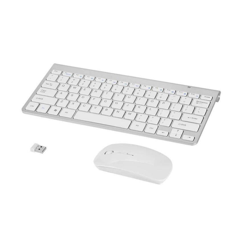Slim Waterproof 2.4GHz Wireless Keyboard and Mouse Kit for Desktop Laptop - intl