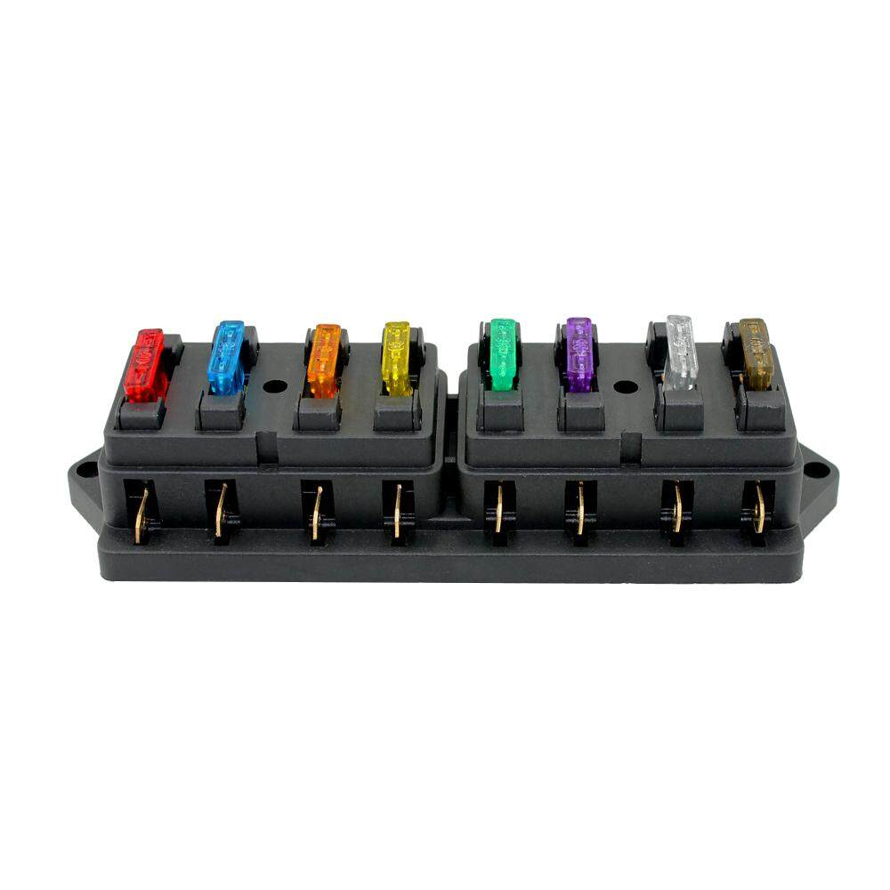 8 way fuse box holder fuse block with 8 standard fuses for car truck boat  vehicle