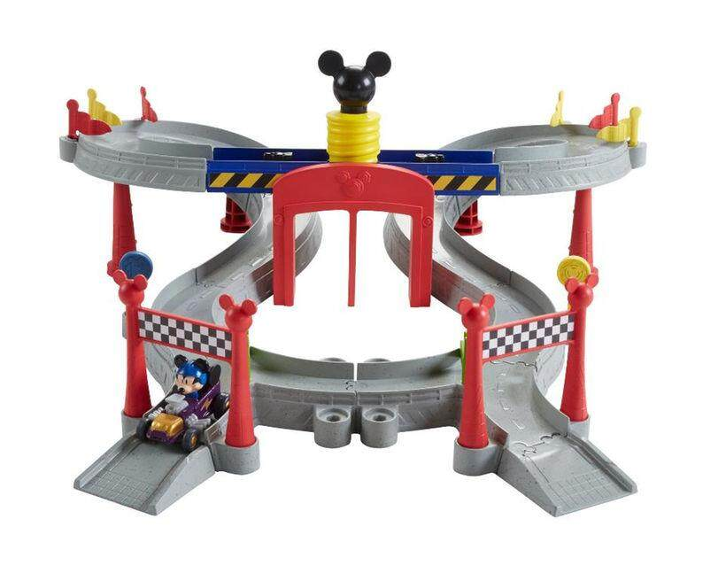 [Mickey & Minnie] Disney Mickey and the Roadster Racers Mickey Ears Raceway Track Set Toys for boys