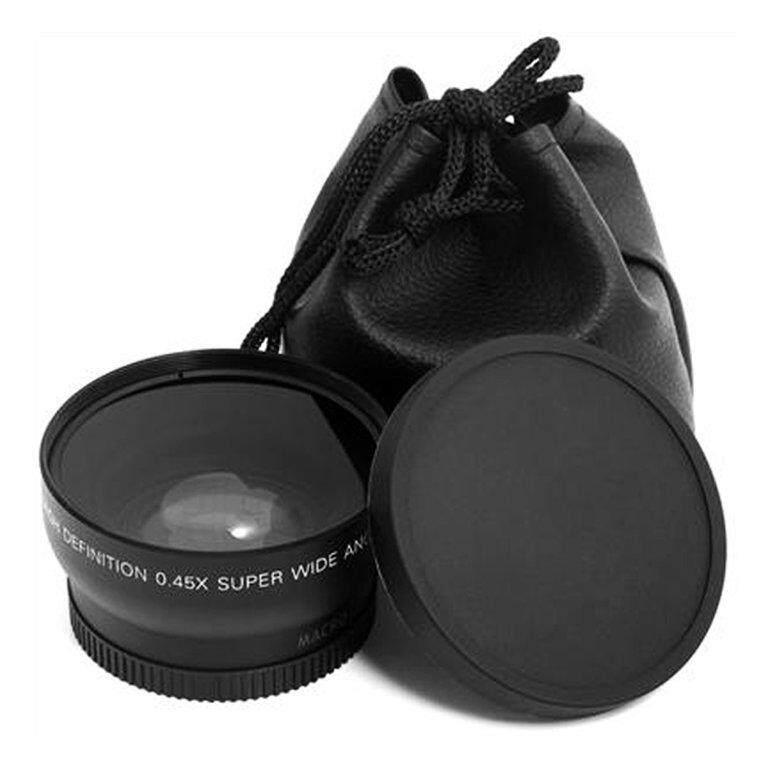 Era 52 Mm 0.45 X Makro Sudut Lebar Lensa untuk Nikon D3200 D3100 D5200 D5100 Hitam