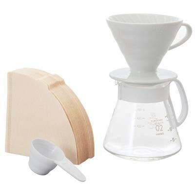 Hario V60 Pour Over Kit Ceramic White 02