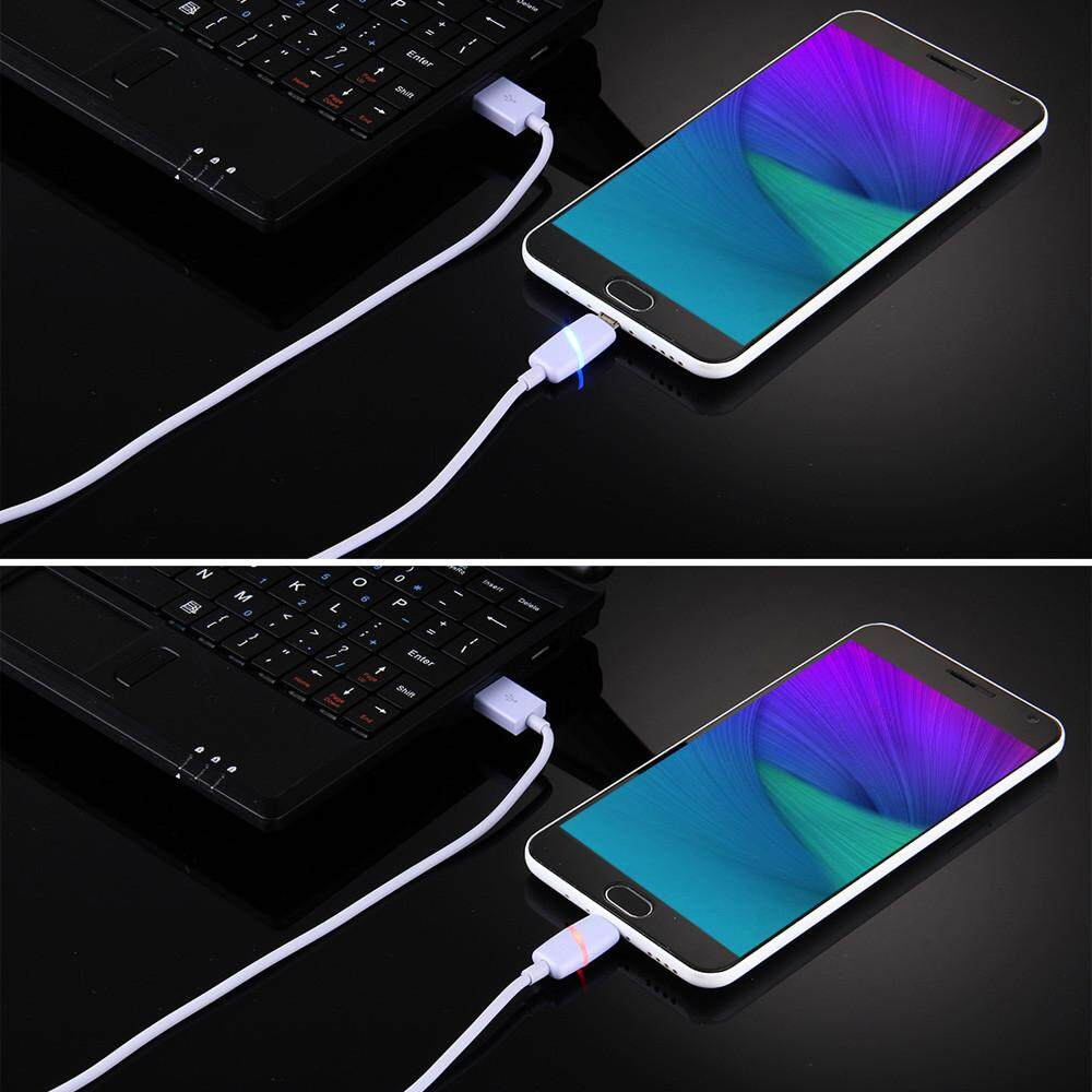 1PC LED Light Micro USB Charge Cable Charging Cord For Samsung Galaxy S7 Edge Android