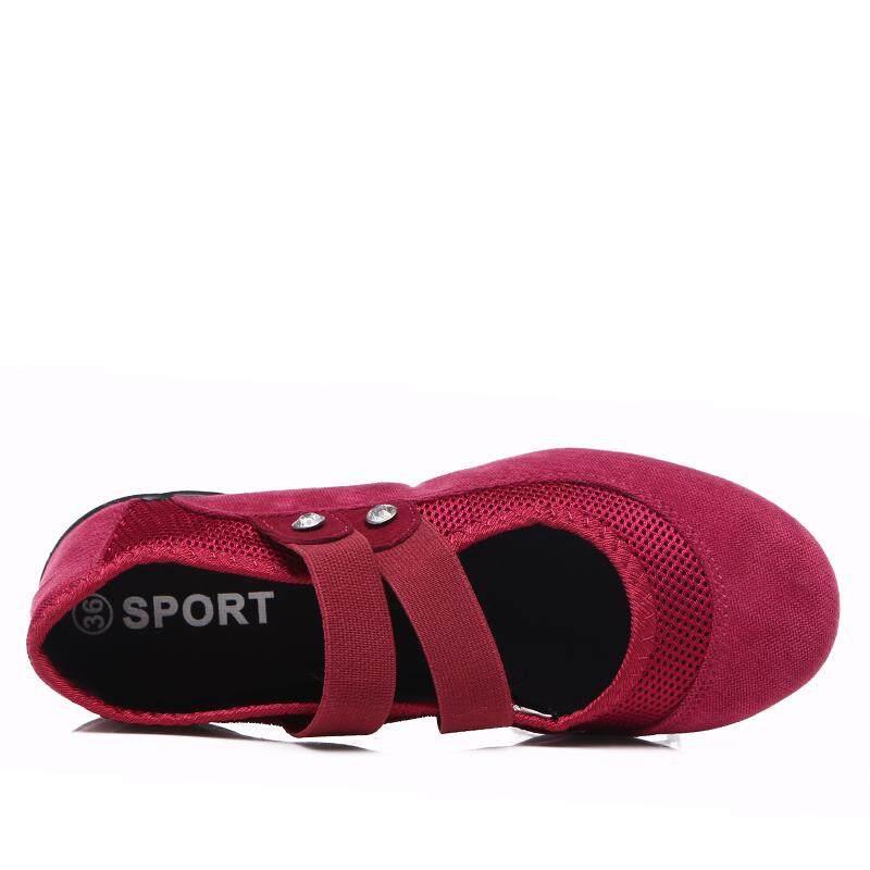... Musim Panas 2018 Wanita Sepatu Tari Sepatu Sneakers untuk Wanita Karet  Platform Tarian Lembut Outsole Nafas ... 7084c5a51a