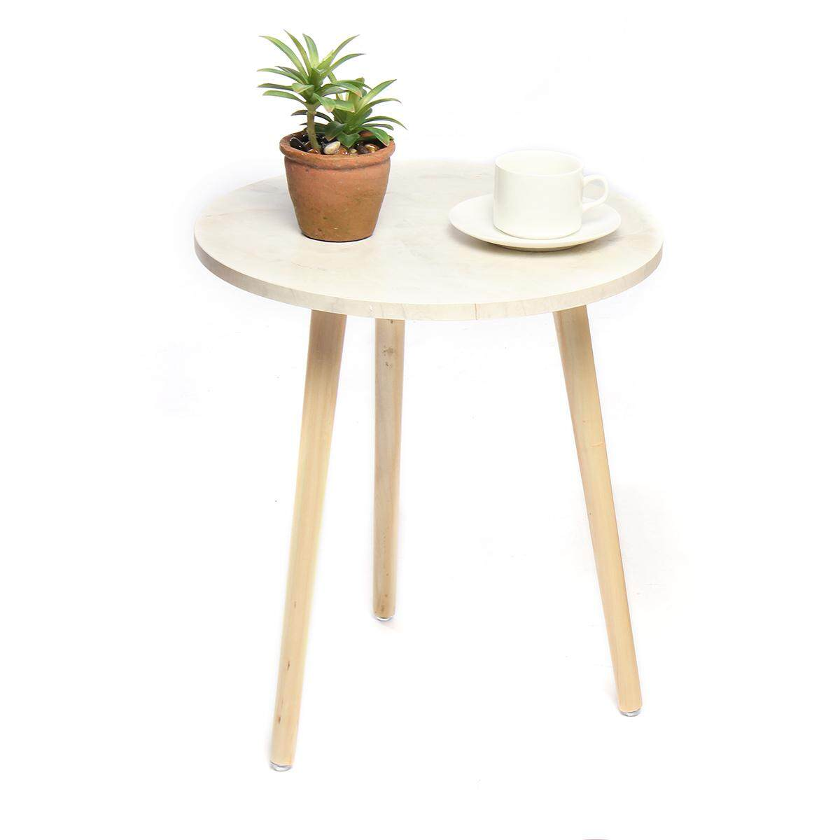 Modern Wood Round Coffee Snack Side End Tea Table Bedside Hallway Furniture - intl