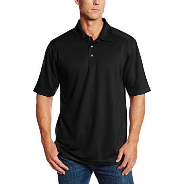 Cutter & Buck Mens Big-Tall Cb Drytec Genre Polo Shirt, Black, 3XT - intl