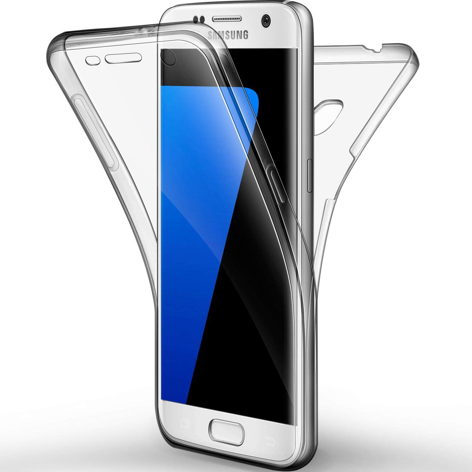Rymall for Galaxy S7 Case Full Coverage Front and Back Shockproof TPU Ultra Slim screen protector