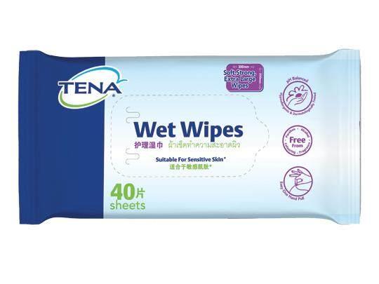TENA Wet Wipes 40 sheets