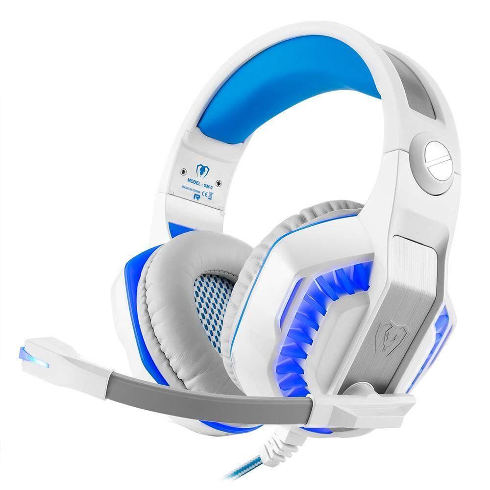 Ailang Kuat Game Headset untuk PS4 Xbox Satu Laptop Buah Smartphone Tablet Ponsel-Putih Biru-Internasional