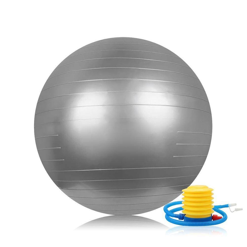 Sale Yoga Ball 65Cm Sports Body Aerobics Pilates Balance Fitball Exercise Home Gym Swiss Fitness Workout Massage Ball Anti Burst Birth Pregnancy Ball Burst Resistance With One Free Air Pump Silver Intl On China