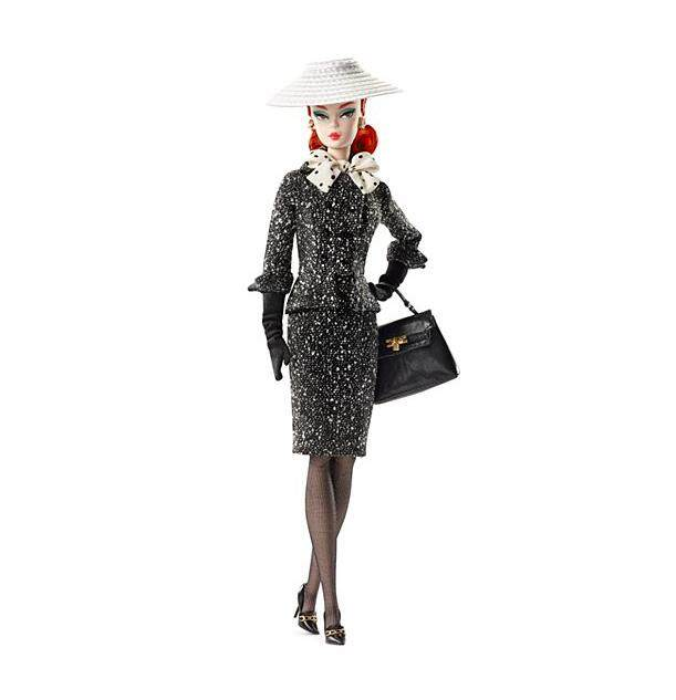[BARBIE] Collector Black and White Tweed Suit Barbie Doll (3 yrs+)